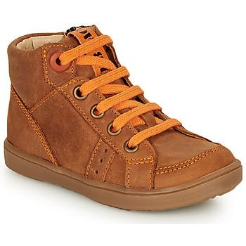 Sko Dreng Høje sneakers GBB ANGELITO Cognac / Orange