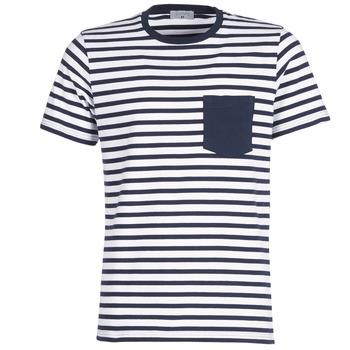 textil Herre T-shirts m. korte ærmer Casual Attitude KARALE Marineblå / Hvid