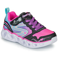 Sko Pige Lave sneakers Skechers HEART LIGHTS Sort / Pink / Led