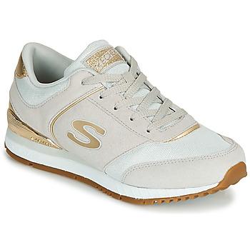 Sko Dame Lave sneakers Skechers SUNLITE Grå / Guld