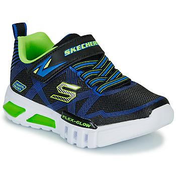 Sko Dreng Lave sneakers Skechers SKECHERS BOY Blå / Grøn