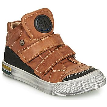 Sko Dreng Høje sneakers Achile HUGO Brun