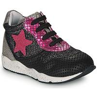 Sko Pige Lave sneakers Ikks KAREN Sort / Pink