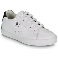 Sko Pige Lave sneakers Ikks MOLLY Hvid / Sort