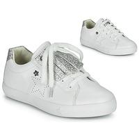 Sko Pige Lave sneakers Ikks MOLLY Hvid / Sølv