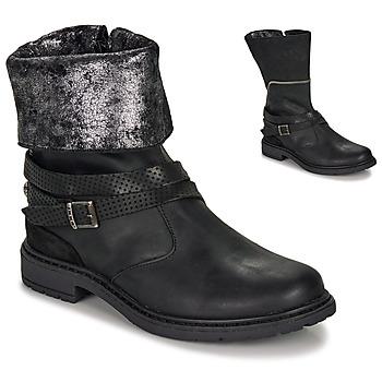 Sko Pige Chikke støvler Ikks FLORA Sort / Sølv
