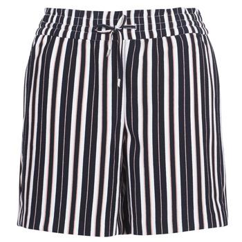 textil Dame Shorts Only ONLPIPER Marineblå / Hvid