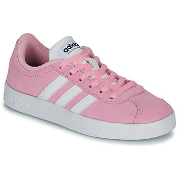 Sko Børn Lave sneakers adidas Originals VL COURT K ROSE Pink