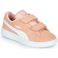 Sko Pige Lave sneakers Puma SMASH PSV PEACH Koral