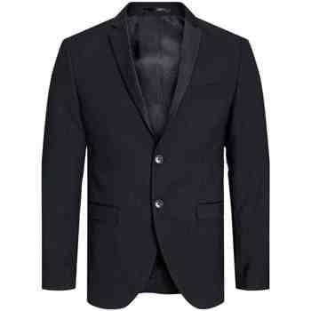textil Herre Jakker / Blazere Jack & Jones 12143492 JPRSOLARIS TUX BLAZER BLACK Negro