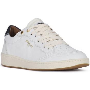 Sko Herre Lave sneakers Blauer MURRAY 01 WHITE Bianco