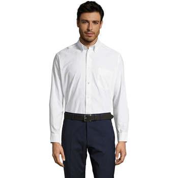 textil Herre Skjorter m. lange ærmer Sols BOSTON STYLE OXFORD Blanco