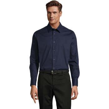 textil Herre Skjorter m. lange ærmer Sols BRIGHTON STRECH Azul