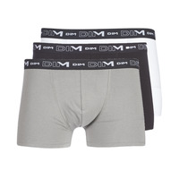 Undertøj Herre Trunks DIM COTON STRETCH X3 Sort / Grå / Hvid