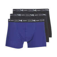Undertøj Herre Trunks DIM COTON STRETCH X3 Sort / Blå
