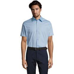 textil Herre Skjorter m. korte ærmer Sols BROADWAY STRECH MODERN Azul
