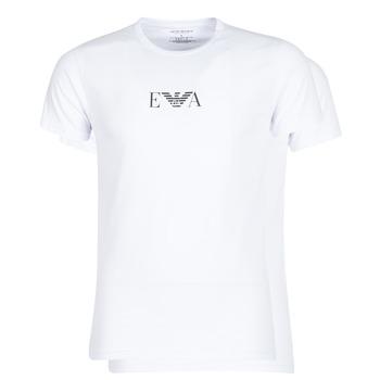 textil Herre T-shirts m. korte ærmer Emporio Armani CC715-111267-04712 Hvid