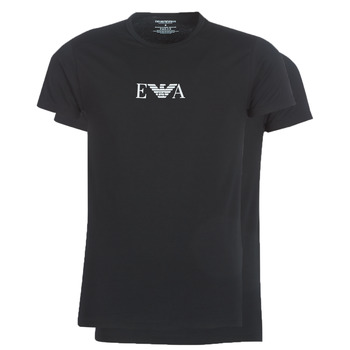 textil Herre T-shirts m. korte ærmer Emporio Armani CC715-111267-07320 Sort