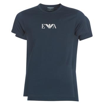 textil Herre T-shirts m. korte ærmer Emporio Armani CC715-111267-27435 Marineblå
