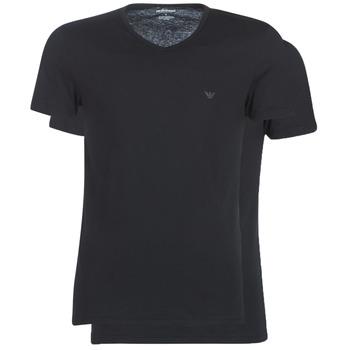 textil Herre T-shirts m. korte ærmer Emporio Armani CC722-111648-07320 Sort