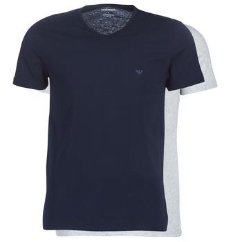 textil Herre T-shirts m. korte ærmer Emporio Armani CC722-111648-15935 Marineblå / Grå