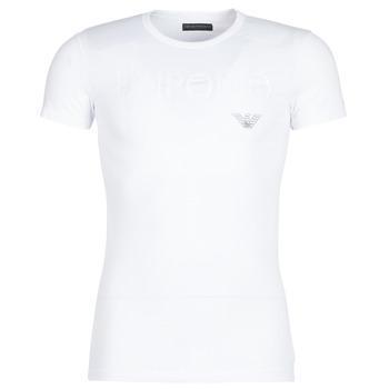 textil Herre T-shirts m. korte ærmer Emporio Armani CC716-111035-00010 Hvid