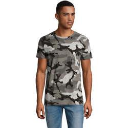 textil Herre T-shirts m. korte ærmer Sols CAMOUFLAGE DESIGN MEN Gris