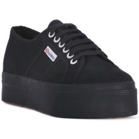 Sko Dame Lave sneakers Superga COTU FULL BLACK UP AND DOWN Nero