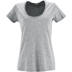 textil Dame T-shirts m. korte ærmer Sols METROPOLITAN CITY GIRL Gris