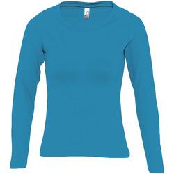 textil Dame Langærmede T-shirts Sols MAJESTIC COLORS GIRL Azul
