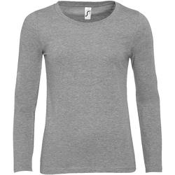 textil Dame Langærmede T-shirts Sols MAJESTIC COLORS GIRL Gris