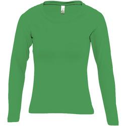 textil Dame Langærmede T-shirts Sols MAJESTIC COLORS GIRL Verde
