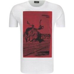 textil Herre T-shirts m. korte ærmer Dsquared S71GD0712 Hvid