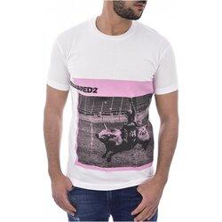 textil Herre T-shirts m. korte ærmer Dsquared S71GD0713 Hvid