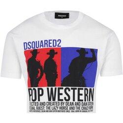 textil Herre T-shirts m. korte ærmer Dsquared S71GD0720 Hvid