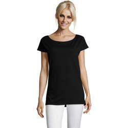 textil Dame T-shirts m. korte ærmer Sols MARYLIN STYLE KIMONO Negro