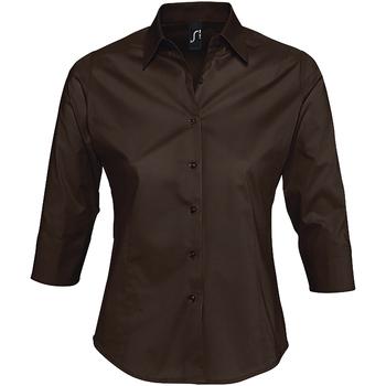 textil Dame Skjorter / Skjortebluser Sols EFFECT ELEGANT Marrón