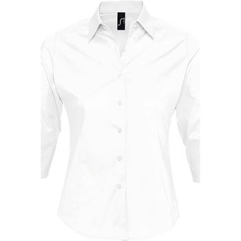 textil Dame Skjorter / Skjortebluser Sols EFFECT ELEGANT Blanco