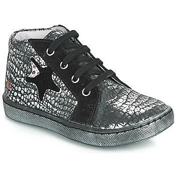 Sko Pige Høje sneakers GBB LETO Sort / Sølv
