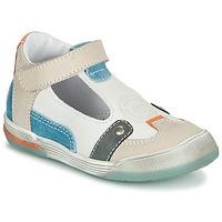 Sko Dreng Sandaler GBB PERCEVAL Hvid / Beige / Blå