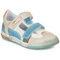 Sko Dreng Lave sneakers GBB PRINCE Hvid / Beige / Blå