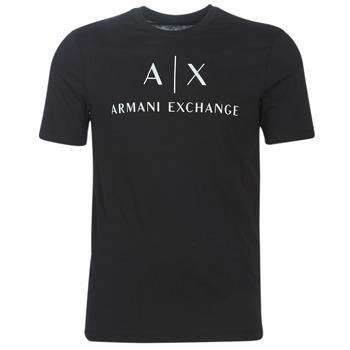 textil Herre T-shirts m. korte ærmer Armani Exchange 8NZTCJ-Z8H4Z-1200 Sort