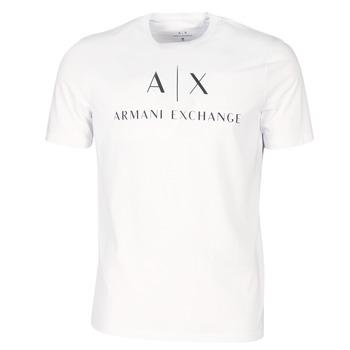 textil Herre T-shirts m. korte ærmer Armani Exchange 8NZTCJ-Z8H4Z-1100 Hvid