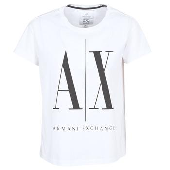 textil Dame T-shirts m. korte ærmer Armani Exchange 8NYTCX-YJG3Z-5102 Hvid