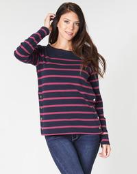 textil Dame Langærmede T-shirts Armor Lux BRIAN Marineblå / Pink