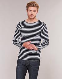 textil Herre Langærmede T-shirts Armor Lux VERMO Marineblå / Hvid