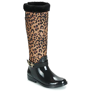 Sko Dame Gummistøvler Guess CICELY Sort / Leopard