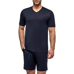 textil Herre Pyjamas / Natskjorte Impetus Travel 4065F84 F86 Blå