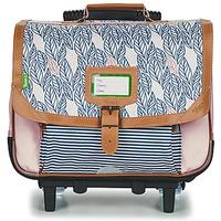 Tasker Pige Rygsække / skoletasker med hjul Tann's CREATION FLORE TROLLEY CARTABLE 38 CM Pink