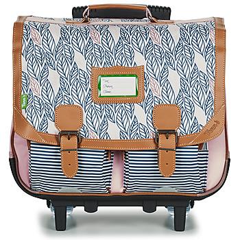 Tasker Pige Rygsække / skoletasker med hjul Tann's CREATION FLORE TROLLEY CARTABLE 41 CM Pink